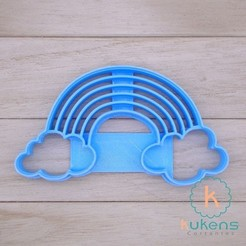 Download 3D printer designs Rainbow Cloud Cookies Cutter, Kukens