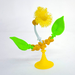 Free 3d printer designs Fuzzy Flower, OgoSport