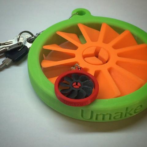 Free STL Propeller keychain, Umake