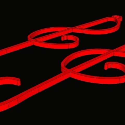 pendentif_clef_de_sol3.jpg Download STL file G Key Earrings • Object to 3D print, 3d-clic