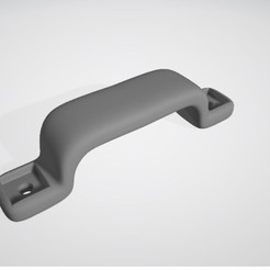 Free STL file Handle with two fasteners, gcarali