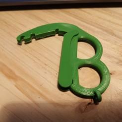 Descargar Modelos 3D para imprimir gratis Abridor de la puerta de seguridad contra virus COVID 19, gcarali