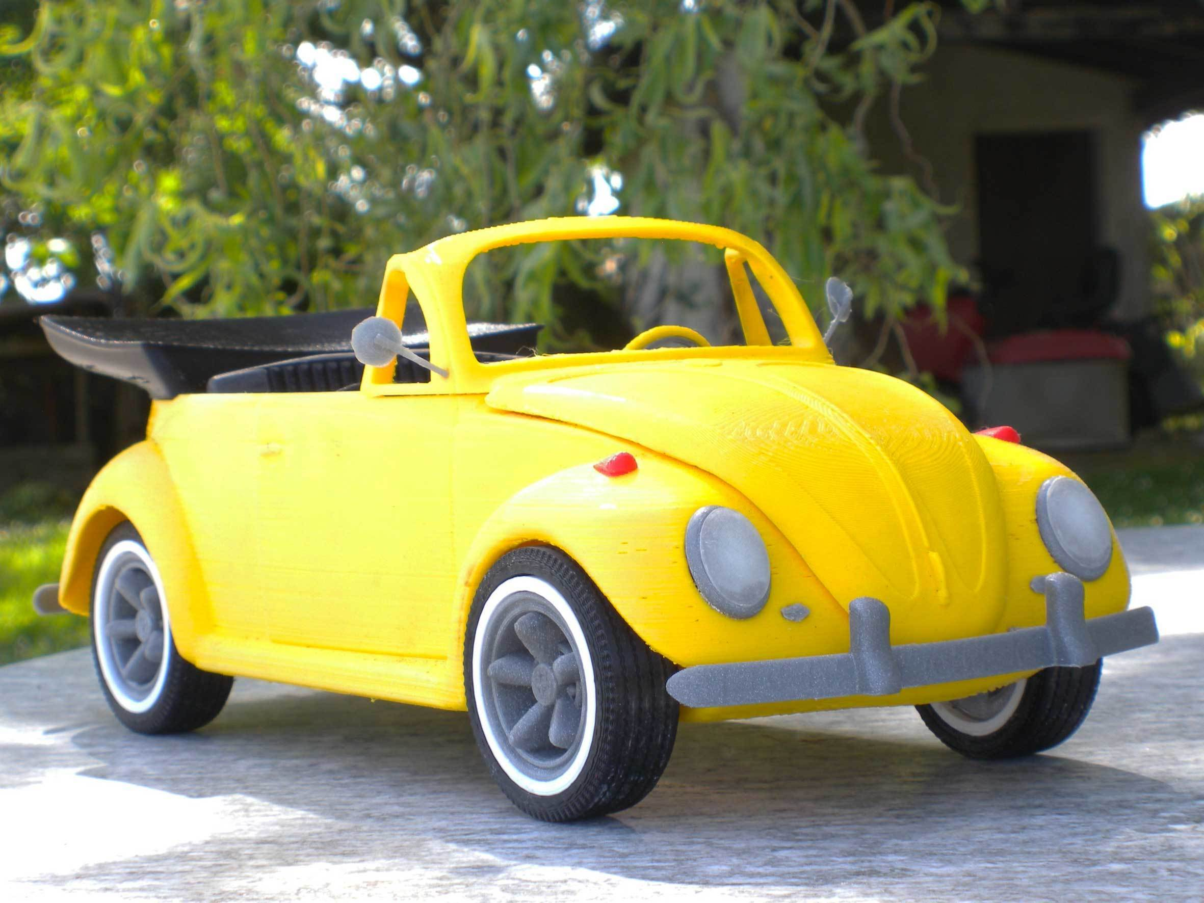 1.jpg Download STL file Beetle cabriolet • Template to 3D print, MaoCasella