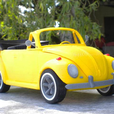 Beetle cabriolet 3D printer file, MaoCasella