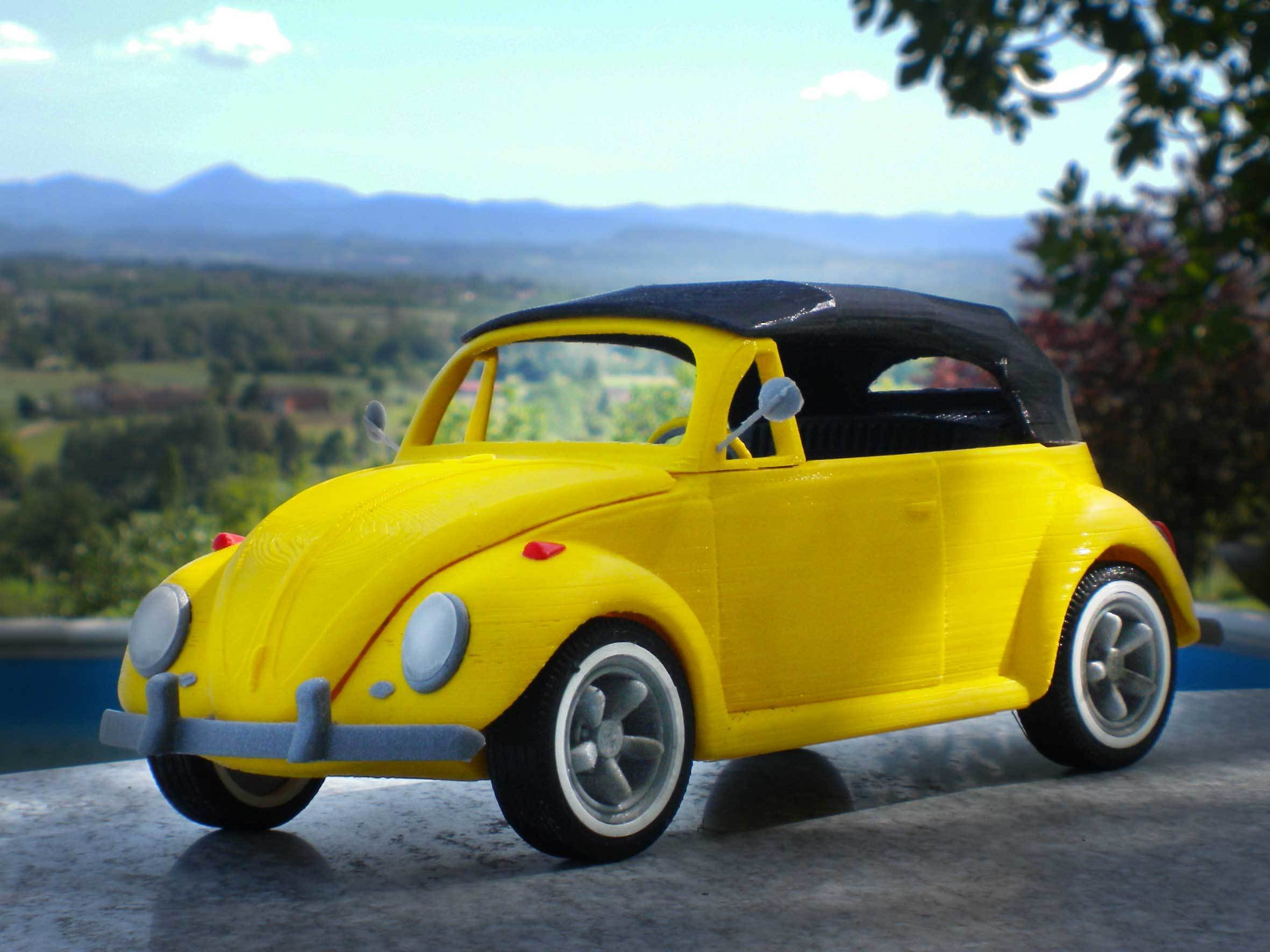 5.jpg Download STL file Beetle cabriolet • Template to 3D print, MaoCasella