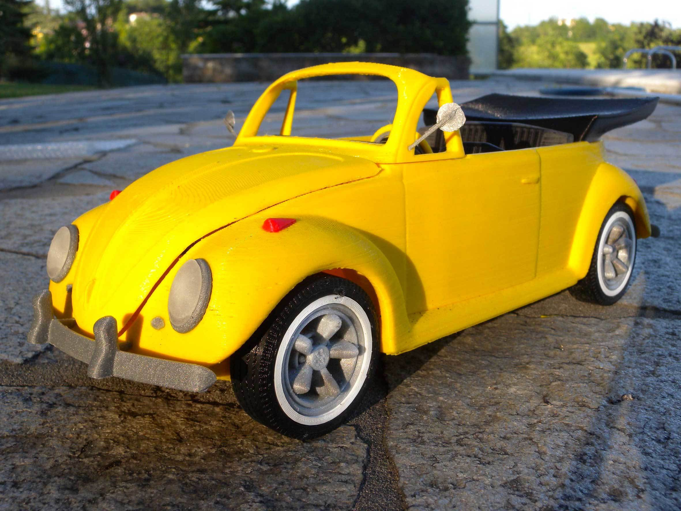 2.jpg Download STL file Beetle cabriolet • Template to 3D print, MaoCasella