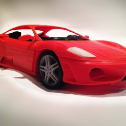 Italian sports car STL file, MaoCasella