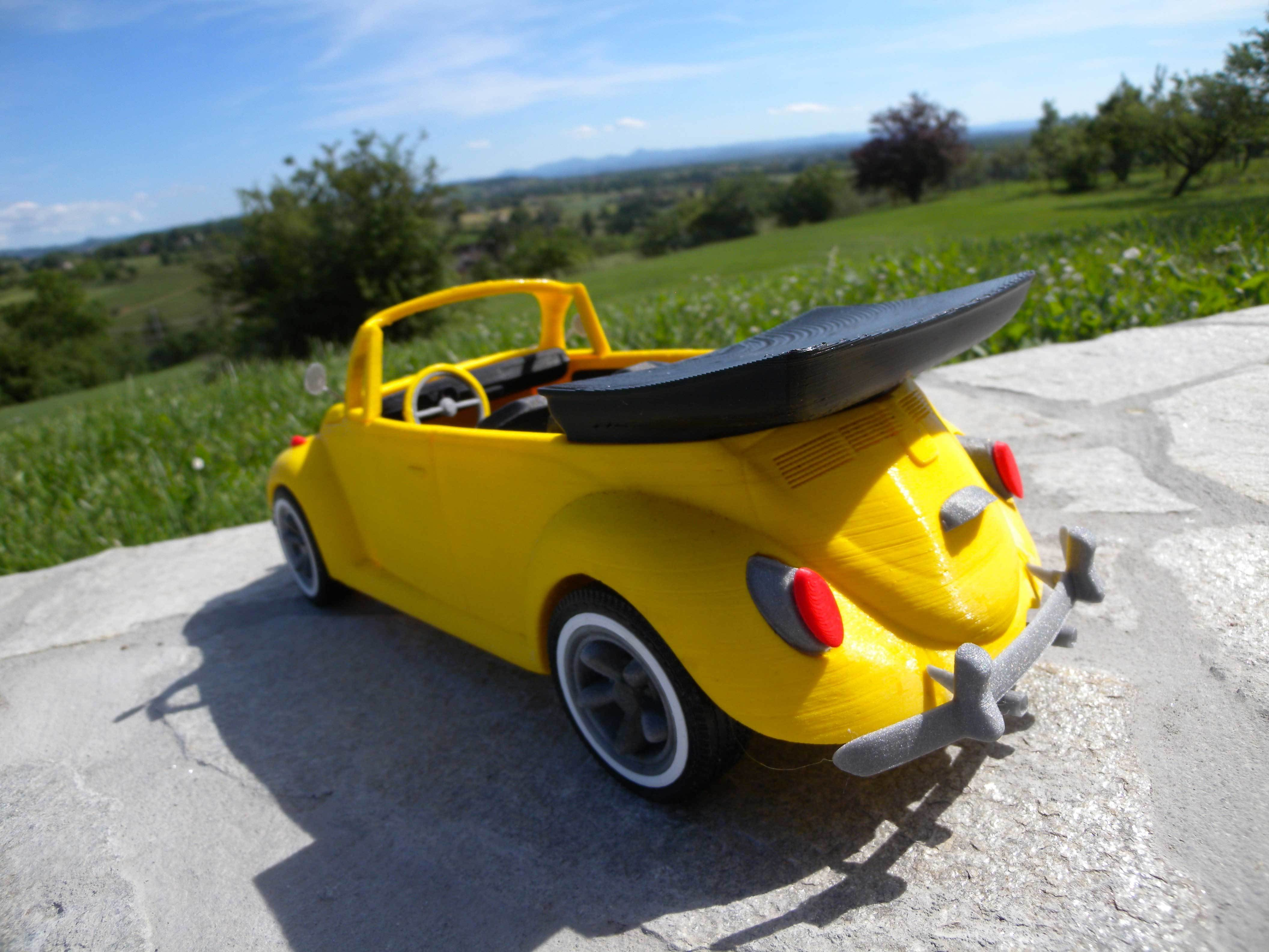 6.jpg Download STL file Beetle cabriolet • Template to 3D print, MaoCasella