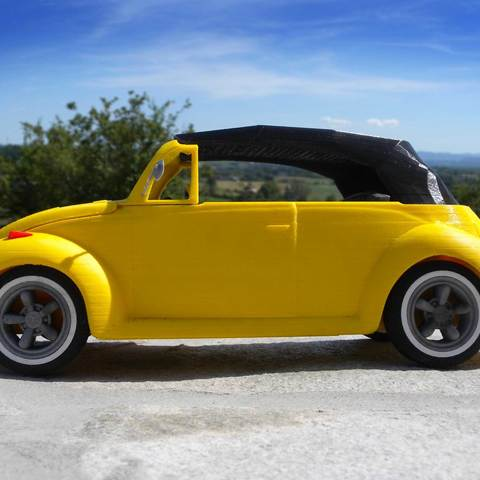4.jpg Download STL file Beetle cabriolet • Template to 3D print, MaoCasella