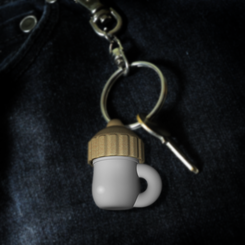 Keyring_of_tea.png Download free STL file Keyring for herbs • 3D printing template, eit4D