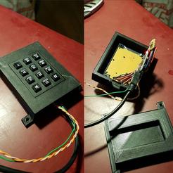Download free 3D printer designs Arduino numeric keypad, imajon