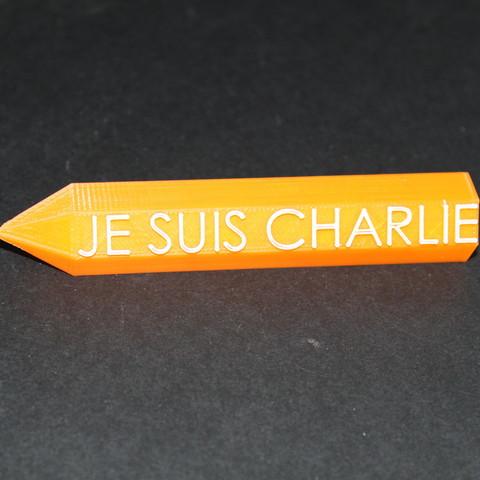 Download free STL file je suis charlie • 3D printer template, sevendice