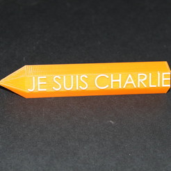 Download free 3D printer designs je suis charlie, sevendice