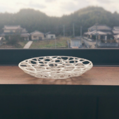 Free 3D printer files Voronoi dish, Wires