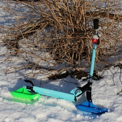 Free Kickbike Ski 3D printer file, ZYYX3DPrinter