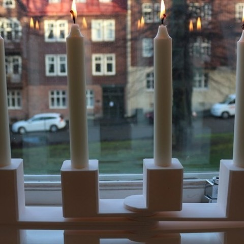 IMG_2463_preview_featured.JPG Download free STL file Swedish Candle Holder • 3D print model, ZYYX3DPrinter