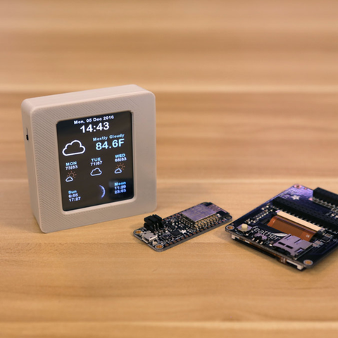 Capture d'écran 2016-12-07 à 17.28.21.png Download free STL file ESP8266 WiFi Weather Station with Color TFT Display • Template to 3D print, Adafruit