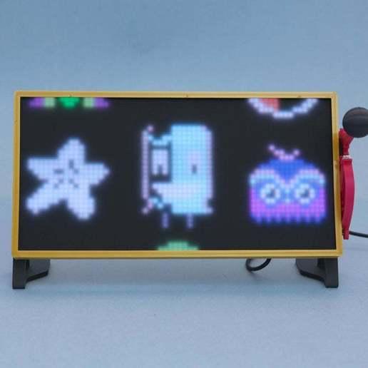 hero-front.jpg Download free STL file RGB Matrix Slot Machine • 3D print object, Adafruit