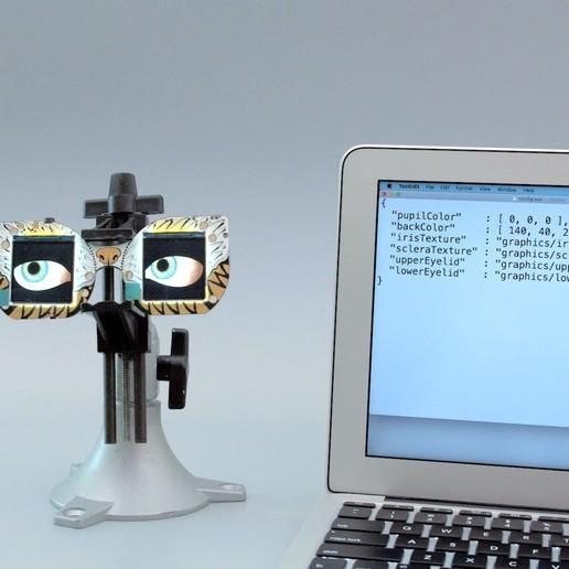 code1.jpg Télécharger fichier STL gratuit Mario Cappy Chapeau Animated Eyes Animated Eyes • Objet imprimable en 3D, Adafruit