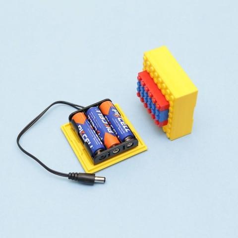 d3b92e68107555f1168e95a3709e2b1b_display_large.jpg Télécharger fichier STL gratuit Étui à piles compatible LEGO • Design pour imprimante 3D, Adafruit