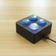 Download free 3D printer files Arcade Button Control Box, Adafruit