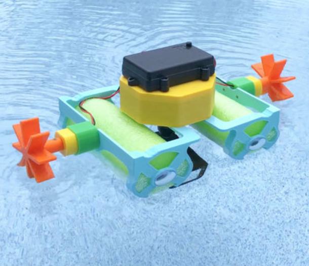 Capture d'écran 2018-08-01 à 12.03.03.png Download free STL file Crickit Paddle Wheel Boat • 3D printer design, Adafruit