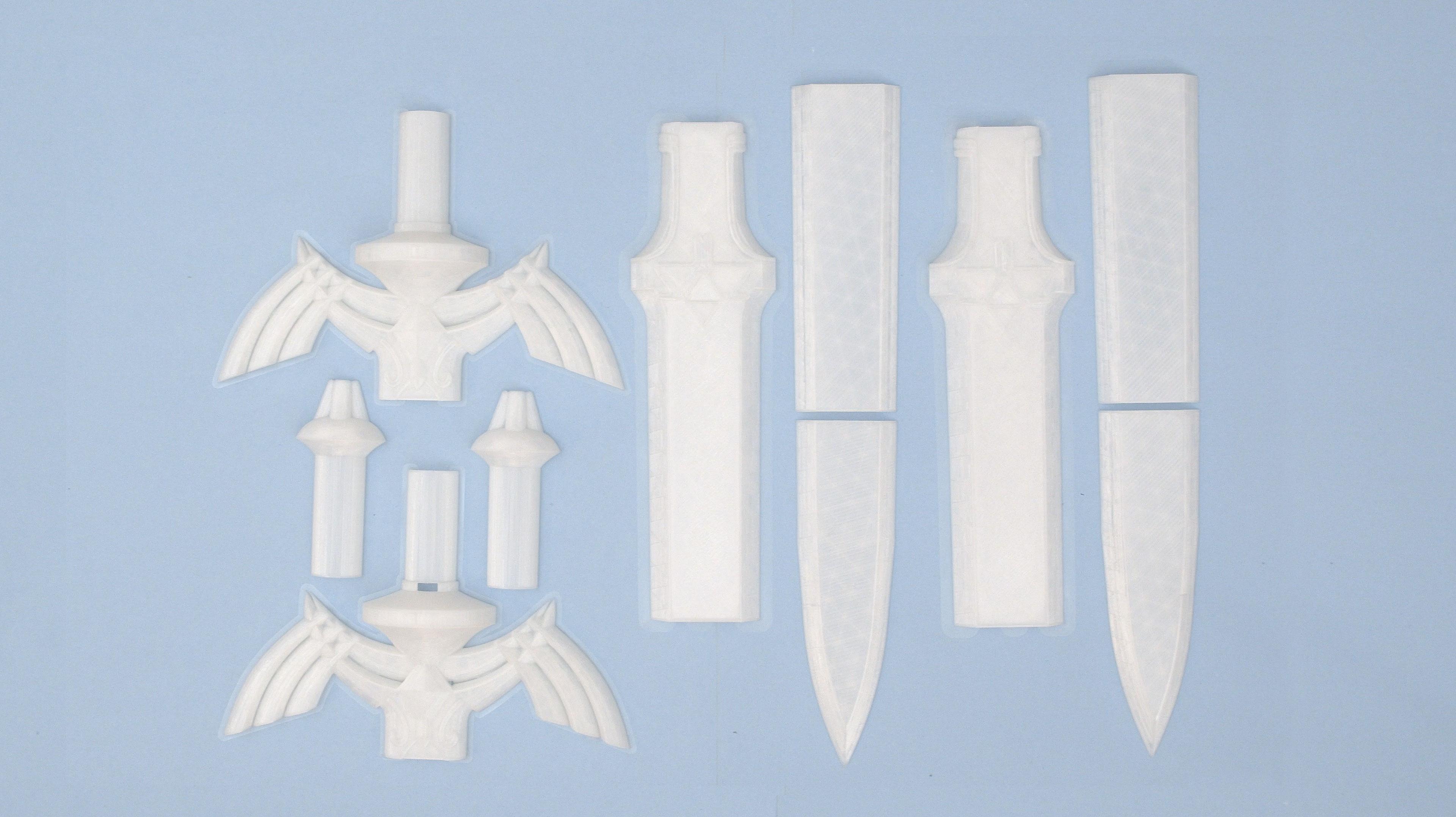 3d-parts.jpg Télécharger fichier STL gratuit LED Zelda Master • Modèle pour imprimante 3D, Adafruit