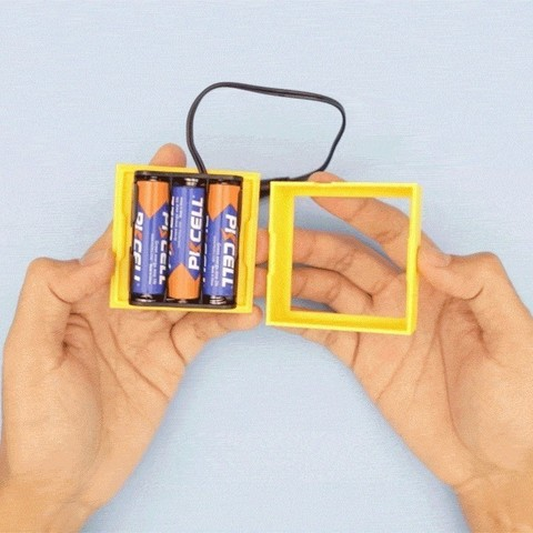 8664732e941c82196f5aaa29d7498ca0_display_large.jpg Download free STL file LEGO Compatible Battery Case • 3D printer design, Adafruit
