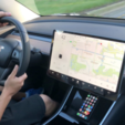 Free 3D model Wireless Qi Charger for Tesla Model 3, Adafruit