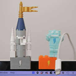 Free Webcam Cover-Up Lego brick with Adabot Mini Fig 3D model, Adafruit