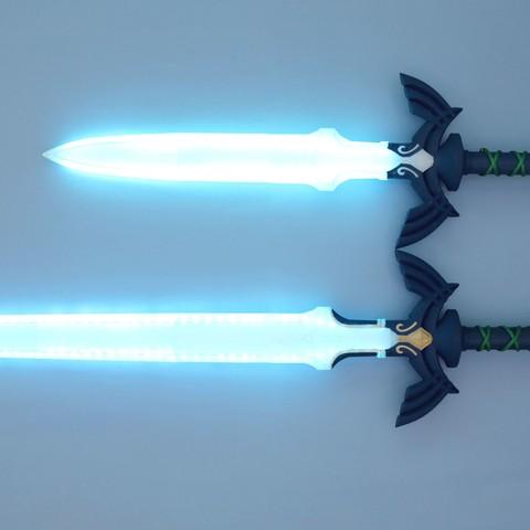 hero-sword-size-blue.jpg Download free STL file LED Zelda Master • 3D printable template, Adafruit