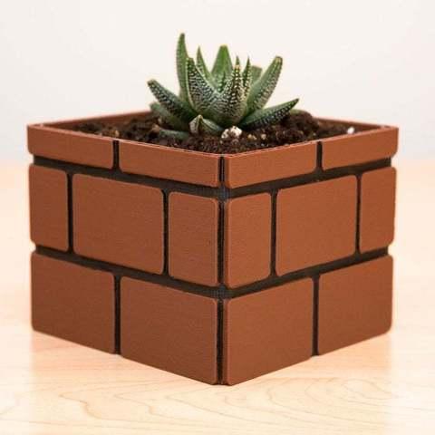 2b473747d41bc0941a36cb2439a780a7_display_large.jpg Download free STL file Mario Brick Planter • 3D print design, Adafruit