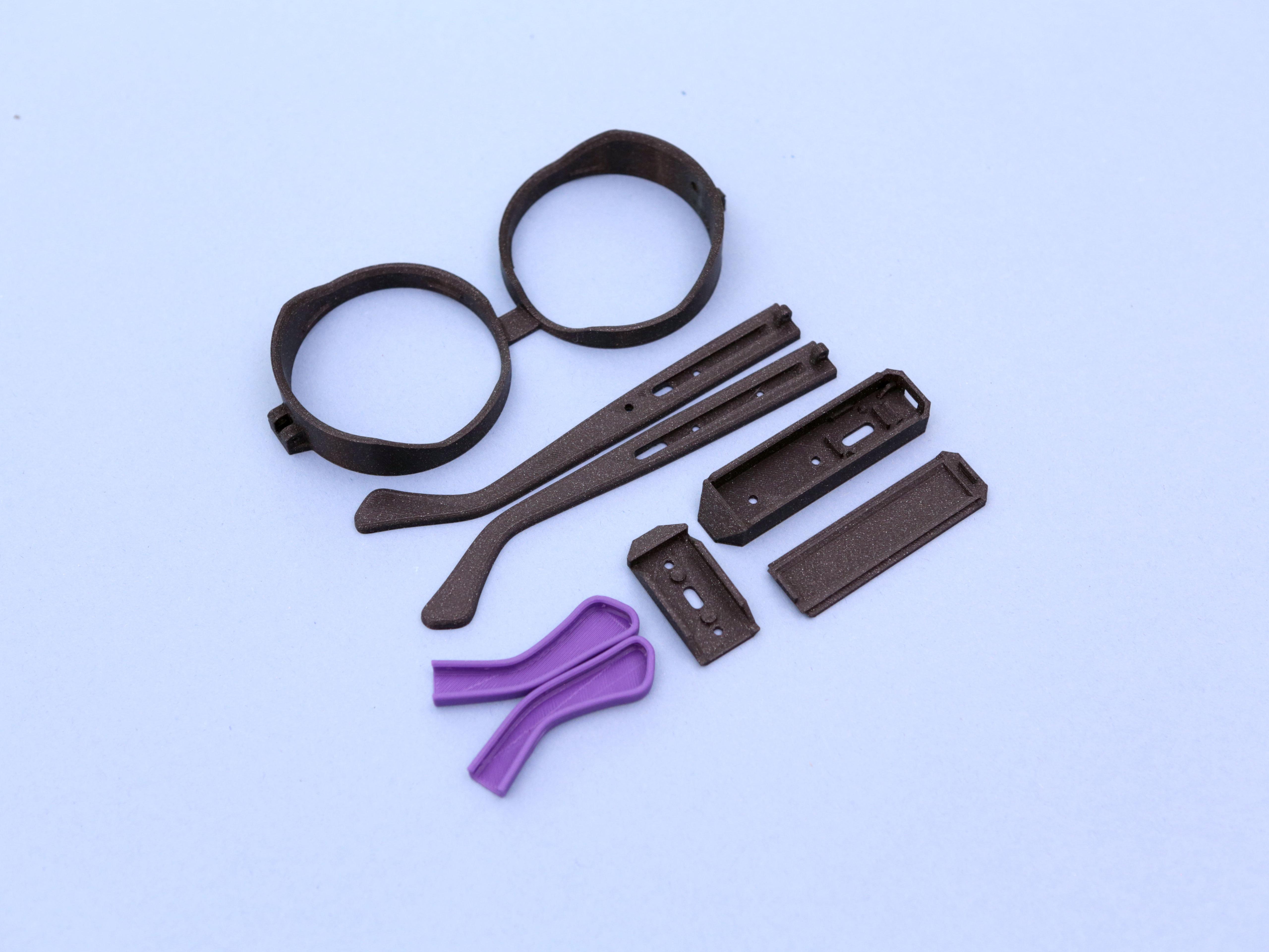 3d-parts.jpg Download free STL file Rezz-Inspired NeoPixel Glasses • 3D printing template, Adafruit