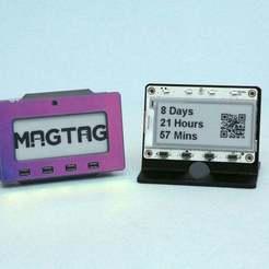 stand-case-hero.jpg Télécharger fichier STL gratuit Affaire MagTag & Stand • Objet à imprimer en 3D, Adafruit