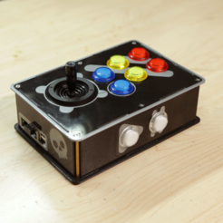 Free Arcade Bonnet Controller for RetroPie STL file, Adafruit
