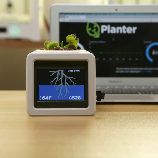 hero-io-planter.jpg Download free STL file Smart IOT Pet Planter • Template to 3D print, Adafruit