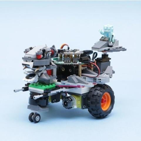 Free 3D print files CRICKIT Lego Rover, Adafruit
