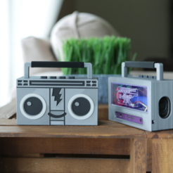 Free Raspberry Pi Airplay BoomBox STL file, Adafruit