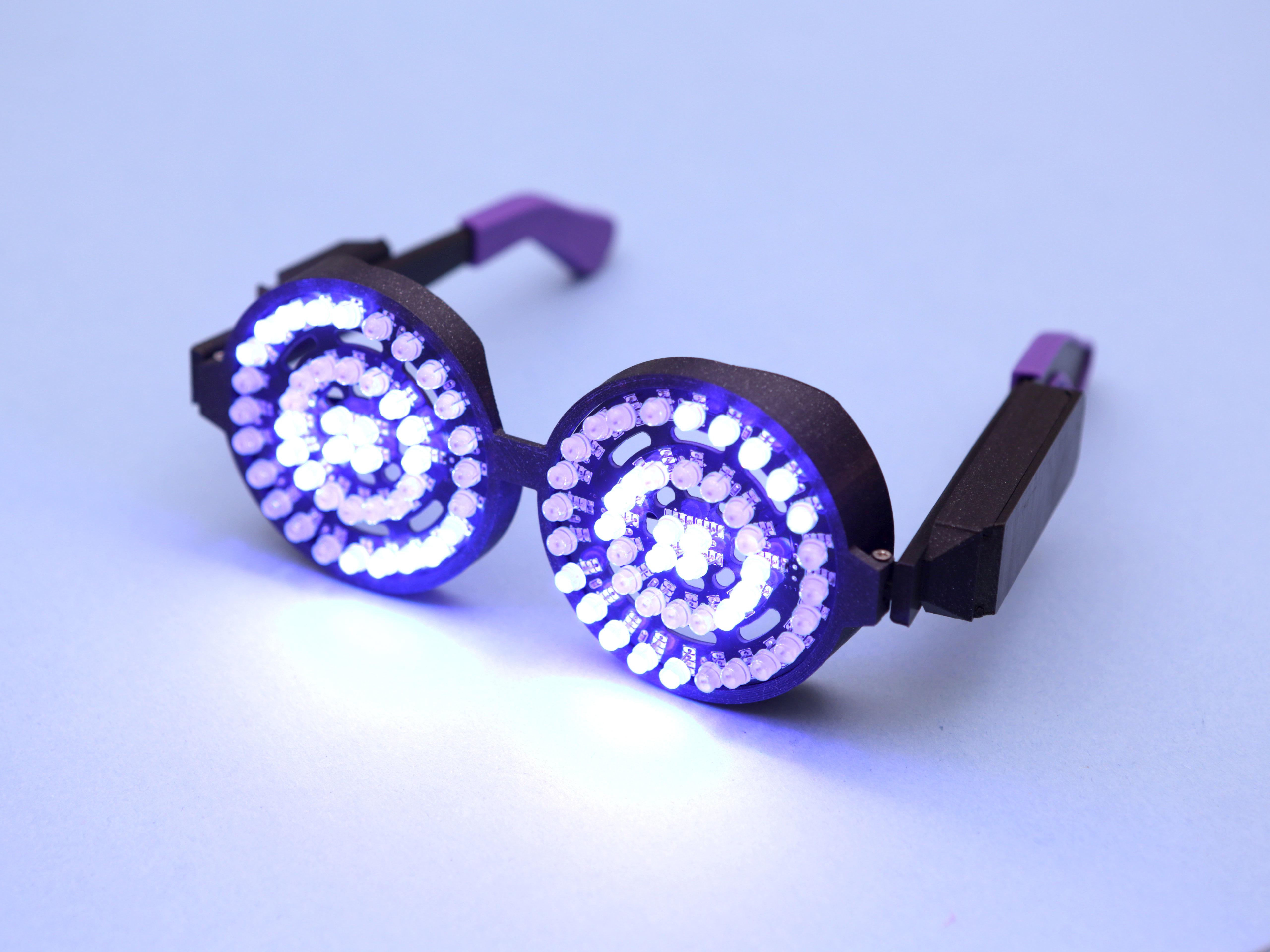 hero-blue-2.jpg Download free STL file Rezz-Inspired NeoPixel Glasses • 3D printing template, Adafruit