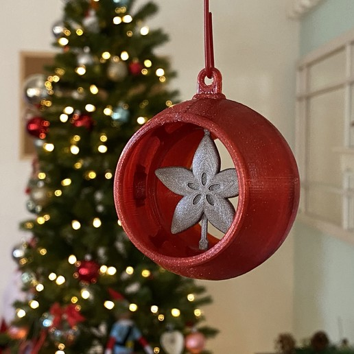Download free 3D model Snap Fit Ornament with Spinner Inserts, Adafruit