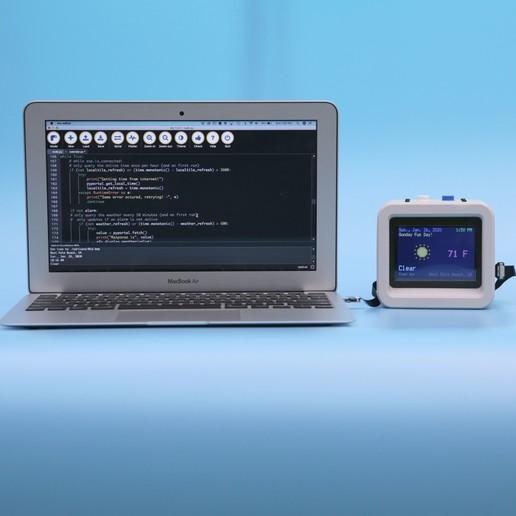 code-wide.jpg Download free STL file ESP32 Retro Weather Station • 3D printer template, Adafruit