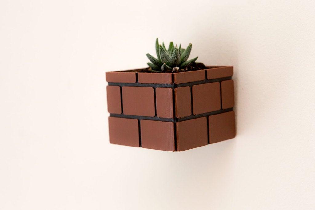 0a68743a409069d29e3cc1bc9201ad1c_display_large.jpg Download free STL file Mario Brick Planter • 3D print design, Adafruit