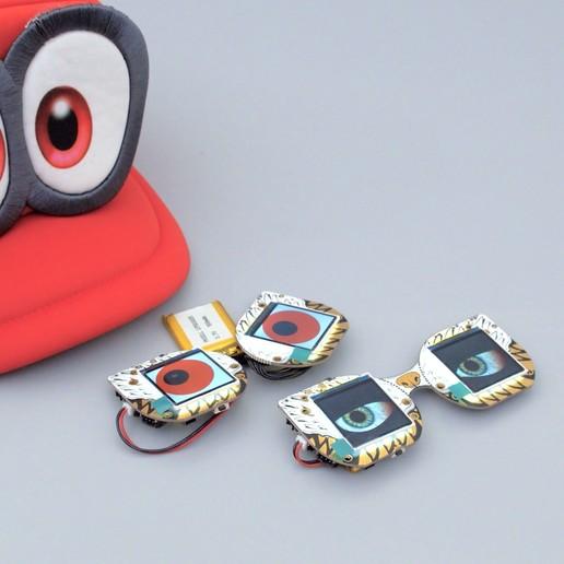 eyes-split-unsplit.jpg Télécharger fichier STL gratuit Mario Cappy Chapeau Animated Eyes Animated Eyes • Objet imprimable en 3D, Adafruit