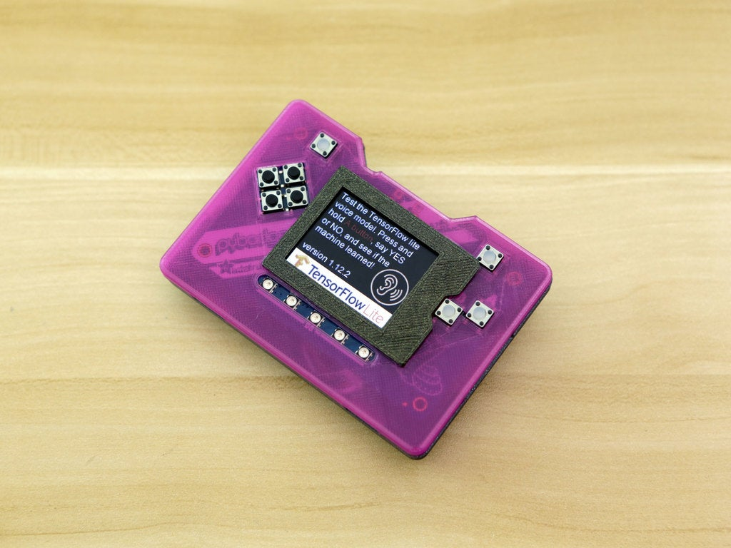 d43f7cbef3a4a9ecdfd5ff973d7821ad_display_large.jpg Download free STL file PyBadge Case with Flip Out Mic (TensorFlow Lite Kit) • Template to 3D print, Adafruit