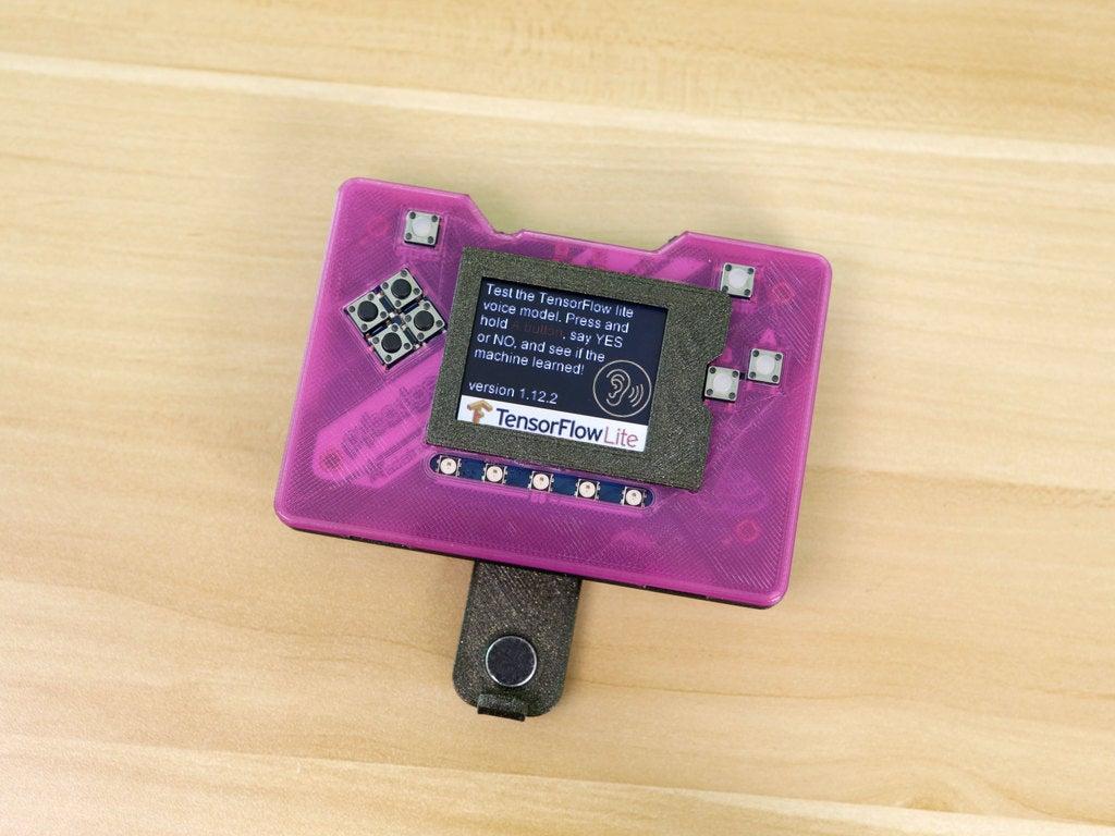 96c4410945793584b00ecc1f283855b5_display_large.jpg Download free STL file PyBadge Case with Flip Out Mic (TensorFlow Lite Kit) • Template to 3D print, Adafruit