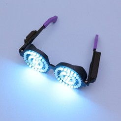 Download free STL file Rezz-Inspired NeoPixel Glasses • 3D printing template, Adafruit