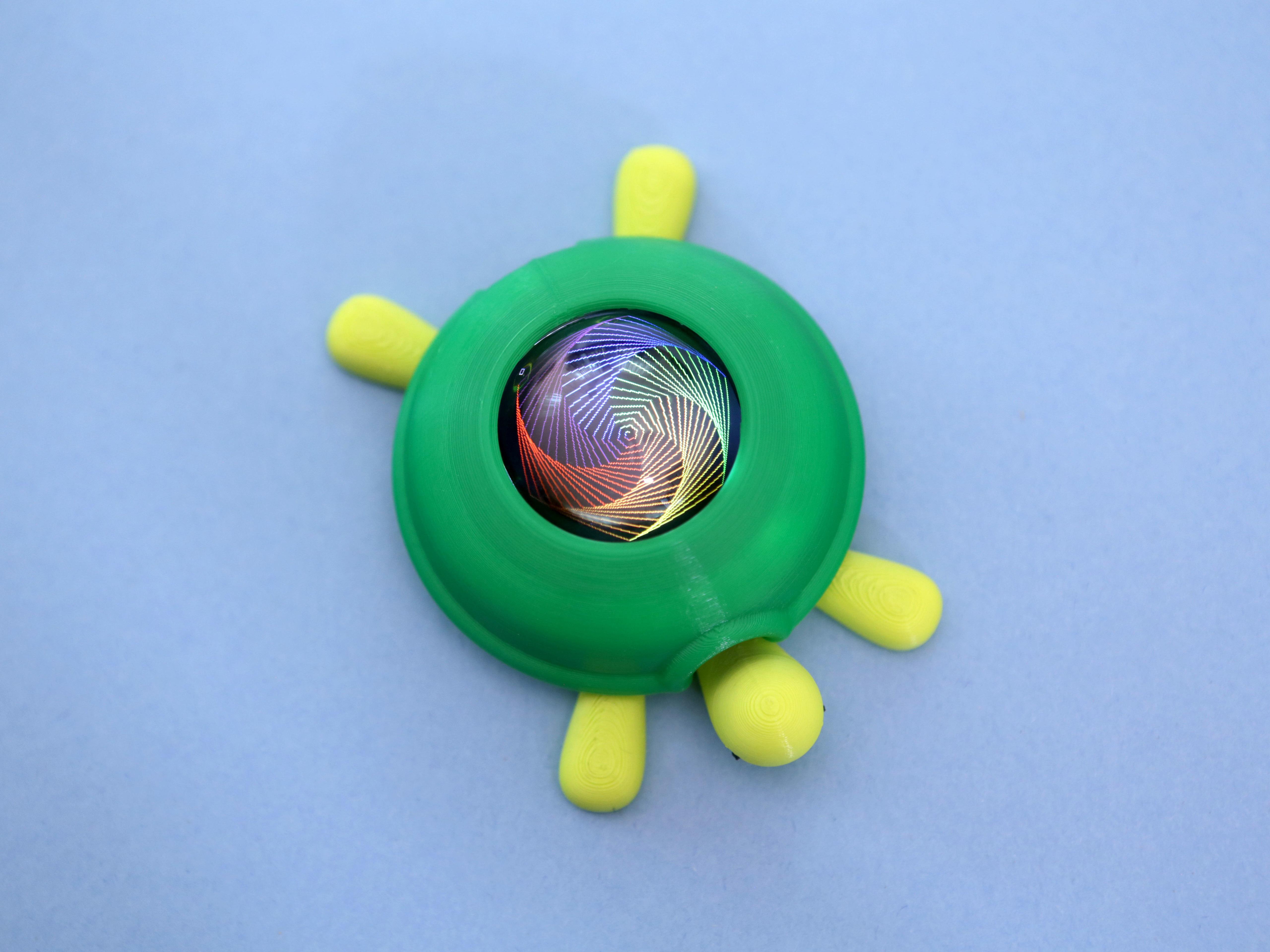 turtle-benzene.jpg Download free STL file Turtle TFT Gizmo • 3D print model, Adafruit