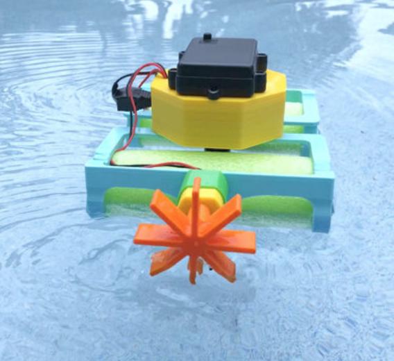 Capture d'écran 2018-08-01 à 12.03.24.png Download free STL file Crickit Paddle Wheel Boat • 3D printer design, Adafruit