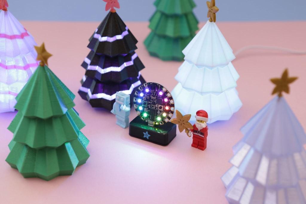 64003bf21c5677e6ae9da7998b23170d_display_large.jpg Download free STL file Christmas Tree for Circuit Playground • 3D printer model, Adafruit