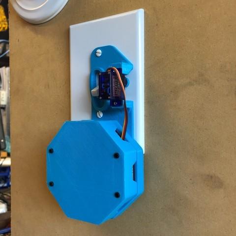 35e7aebd44b6a2c56ed3502446758420_display_large.jpg Download free STL file Crickit Light Switch Servo Mount • Design to 3D print, Adafruit